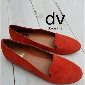 dv Dolce Vita Gilly suede leather orange Flats